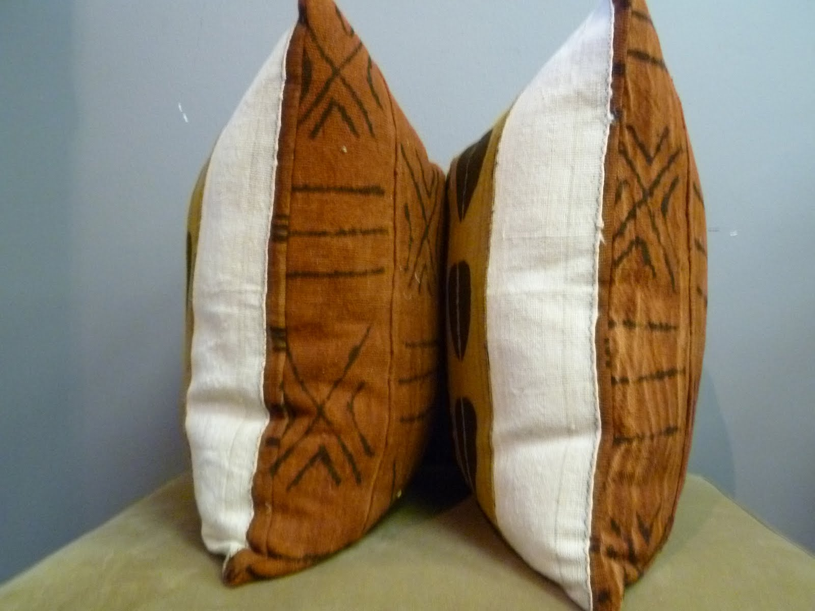 Nakedwindow Reversible 20x20 African Mudcloth Pillow Covers