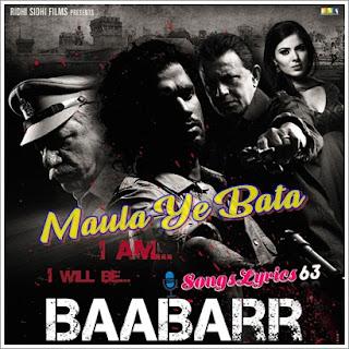 Maula Yeh Bataa  Song Lyrics Baabarr [2009]