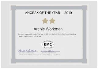 Dull Men's Club Anorak of the Year Award