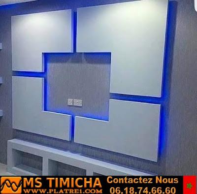 Décoration Platre Moderne Pour Plasma TV 2019