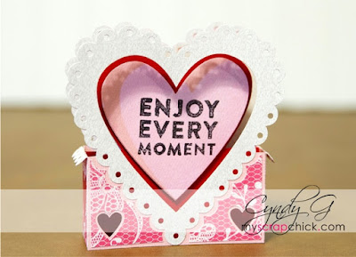 3d lacey heart valentine