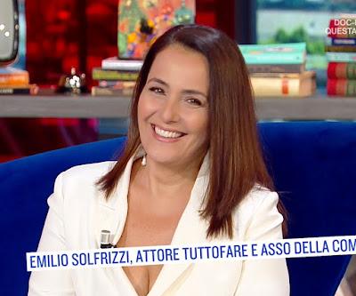 Roberta Capua bella conduttrice tv 24 giugno