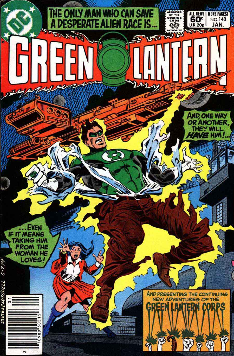 Green Lantern v2 #148 dc comic book cover art