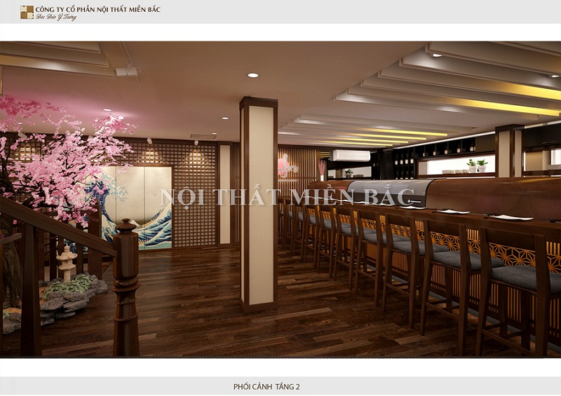Thiết kế nội thất nhà hàng Nhật chuyên nghiệp