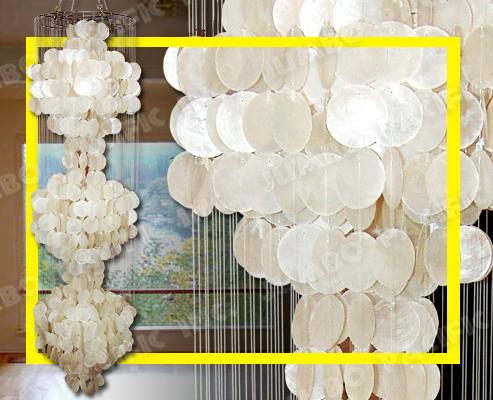 Capiz Chandelier, Capiz Lamp Shades, Capiz Curtains ...