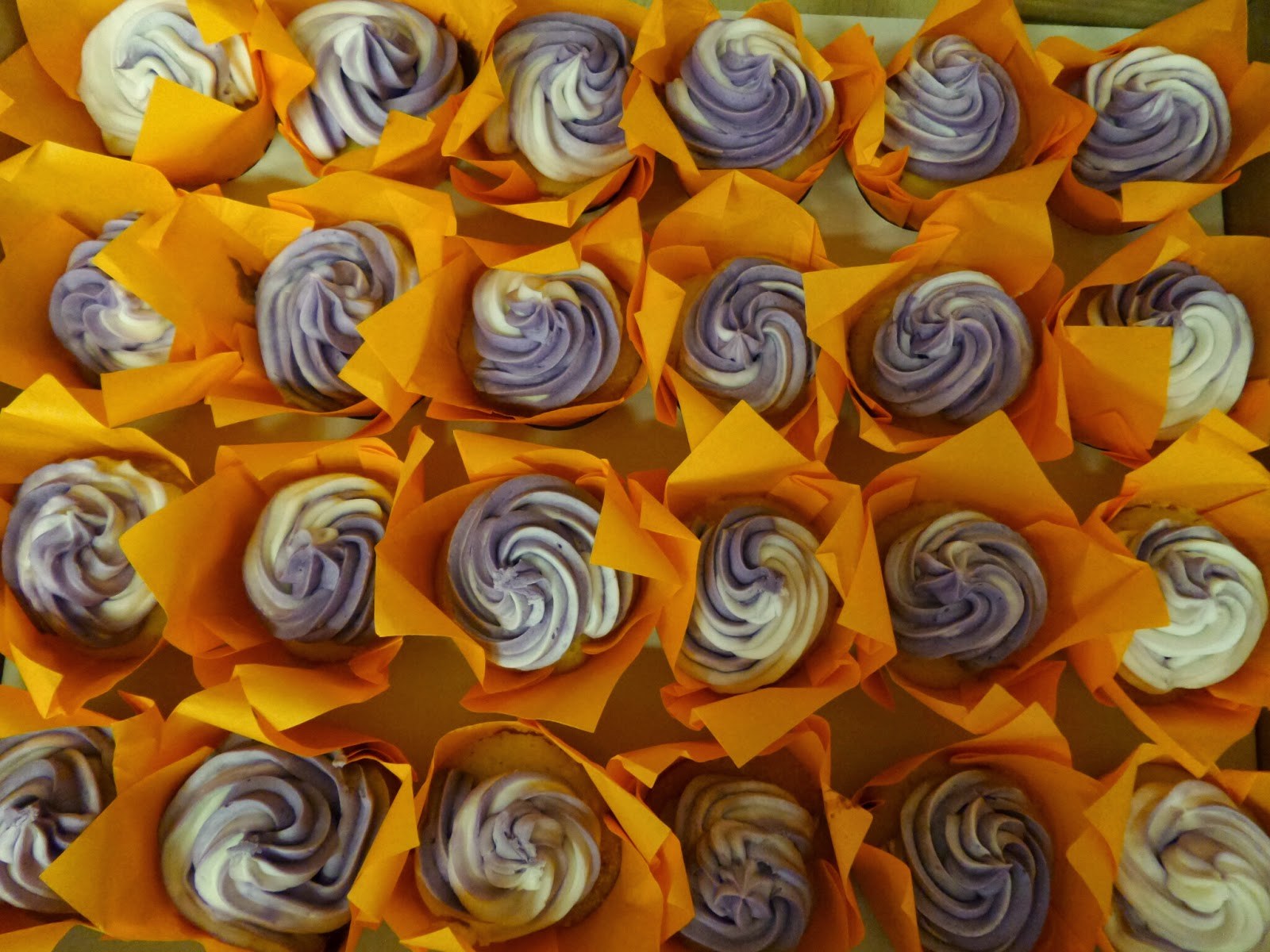 Purple Swirled Cupcakes for Top Enders Baptism