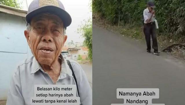 Kisah Pilu Seorang Kakek, Tiap Hari Jalan Kaki Tawarkan Jasa Timbang Badan Demi Bisa Makan