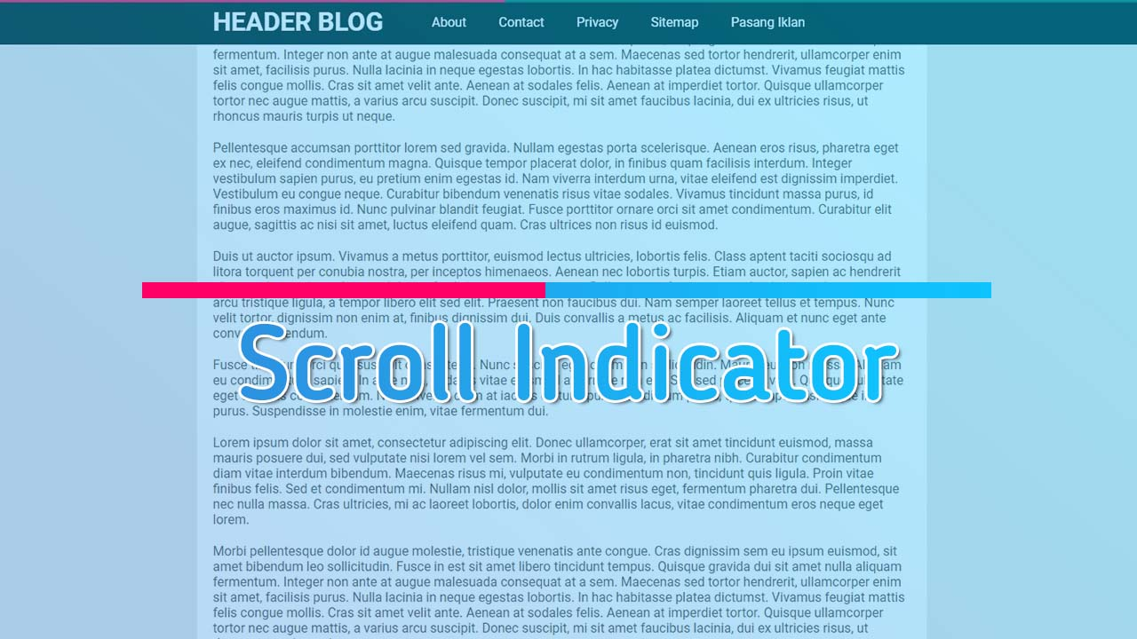 Membuat Scroll Indicator Dengan Javascript