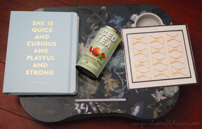 office school supplies chapters indigo kate spade planner watermelon tea bows lap desk floral