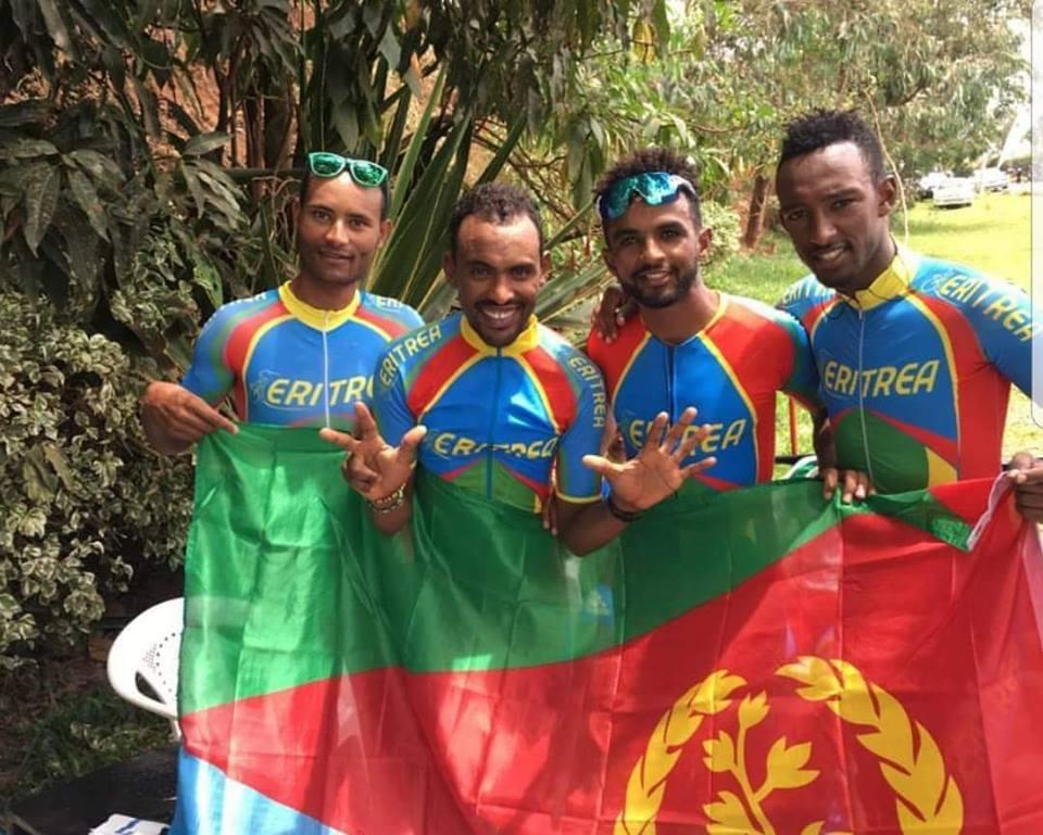 <Eritrea wins Elite Men&rsquo;s TTT for a record 8th consecutive time
