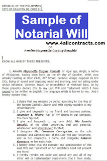 Tags : sample of notarial will in the philippines, example of notarial will philippines, sample notarial will ph