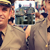 Soldado da BM faz homenagem ao pai e aparece de surpresa para cumprir serviço com ele