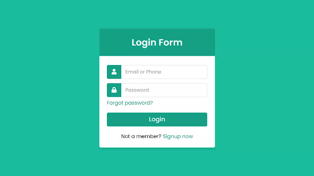 Responsive Login Form using only HTML & CSS