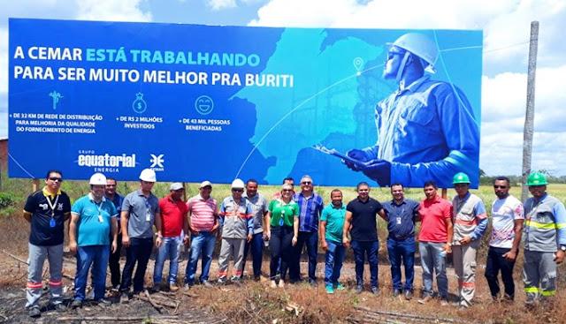 CEMAR: Nova rede de distribuição de energia beneficia população de Buriti e região