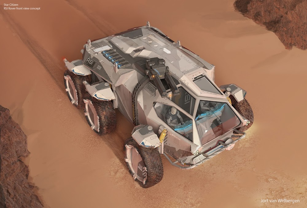 Mars rover concept by Jort van Welbergen for Star Citizen MMO game