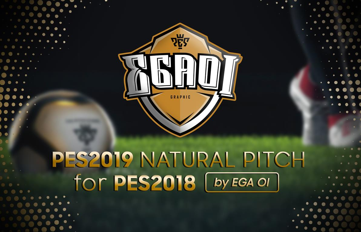 PES 2019 Natural Pitch For PES 2018 by EgaOi