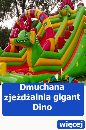 Dmuchana zjeżdżalnia gigant dinozaur, dmuchańce świdnica, atrakcje dla dzieci
