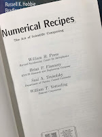 Numerical Recipes: The Art of Scientific Computing, by Press et al., superimposed on Intermediate Physics for Medicine and Biology.