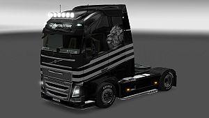 Volvo 2012 Black Lion skin + trailer