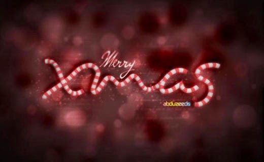 Beautiful 3D Xmas text in Cinema 4D and Photoshop
