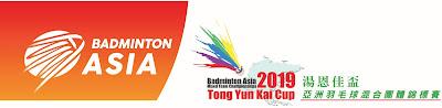 Jadwal Badminton Asia Tong Yun Kai Cup 2019