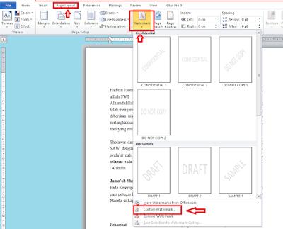 Cara Membuat Watermark dan Menghilangkan Watermark di Microsoft Word