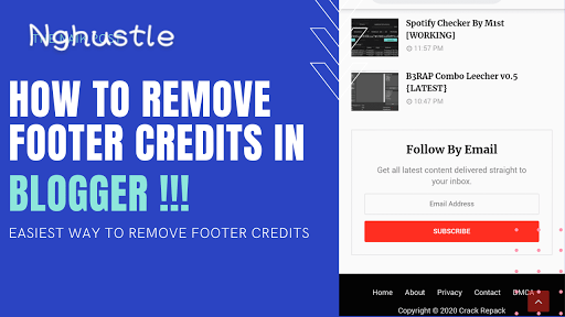 How To Remove Footer Credits From Blogger Template