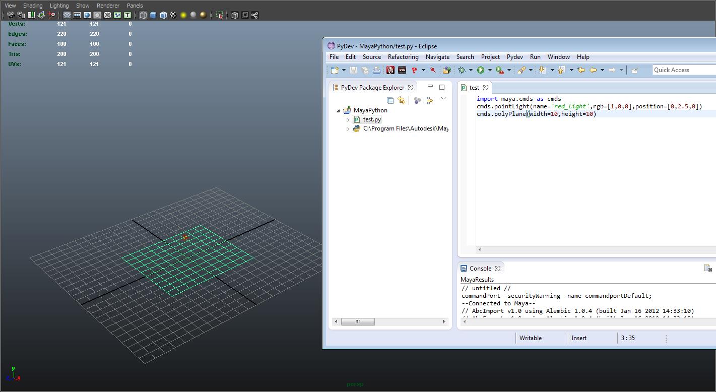 orekamenpe: Using Eclipse as Maya IDE