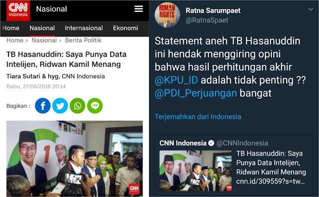 Klaim TB Hasanuddin Punya Data Intelijen Ridwan Kamil Menang Dipertanyakan