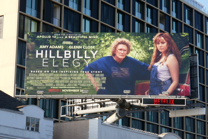 Hillbilly Elegy movie billboard