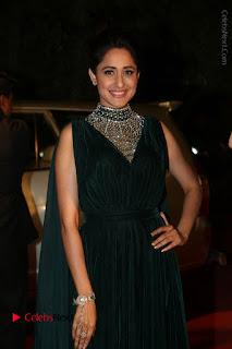 Actress Pragya Jaiswal Stills in Green Long Dress at Gemini TV Puraskaralu 2016 Event  0014.JPG