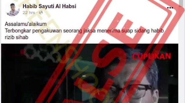 Penyebar Video Hoaks Jaksa Disuap Rizieq Shihab, Mengaku Akunnya Diretas