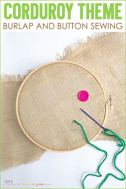 Corduroy: Burlap & Button Sewing Handicraft