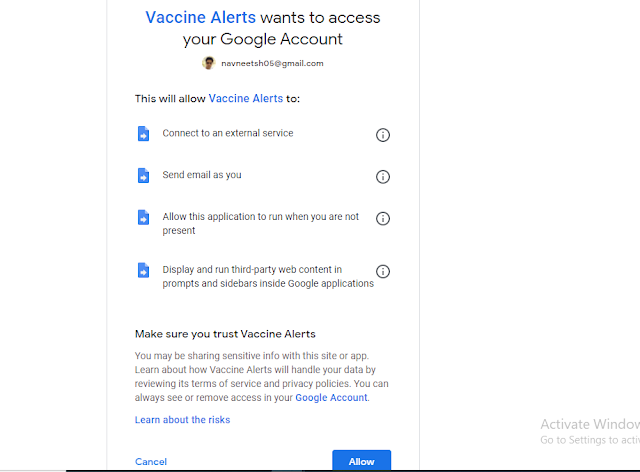 Trick to get alert on email when Covid-19 vaccines available near you.