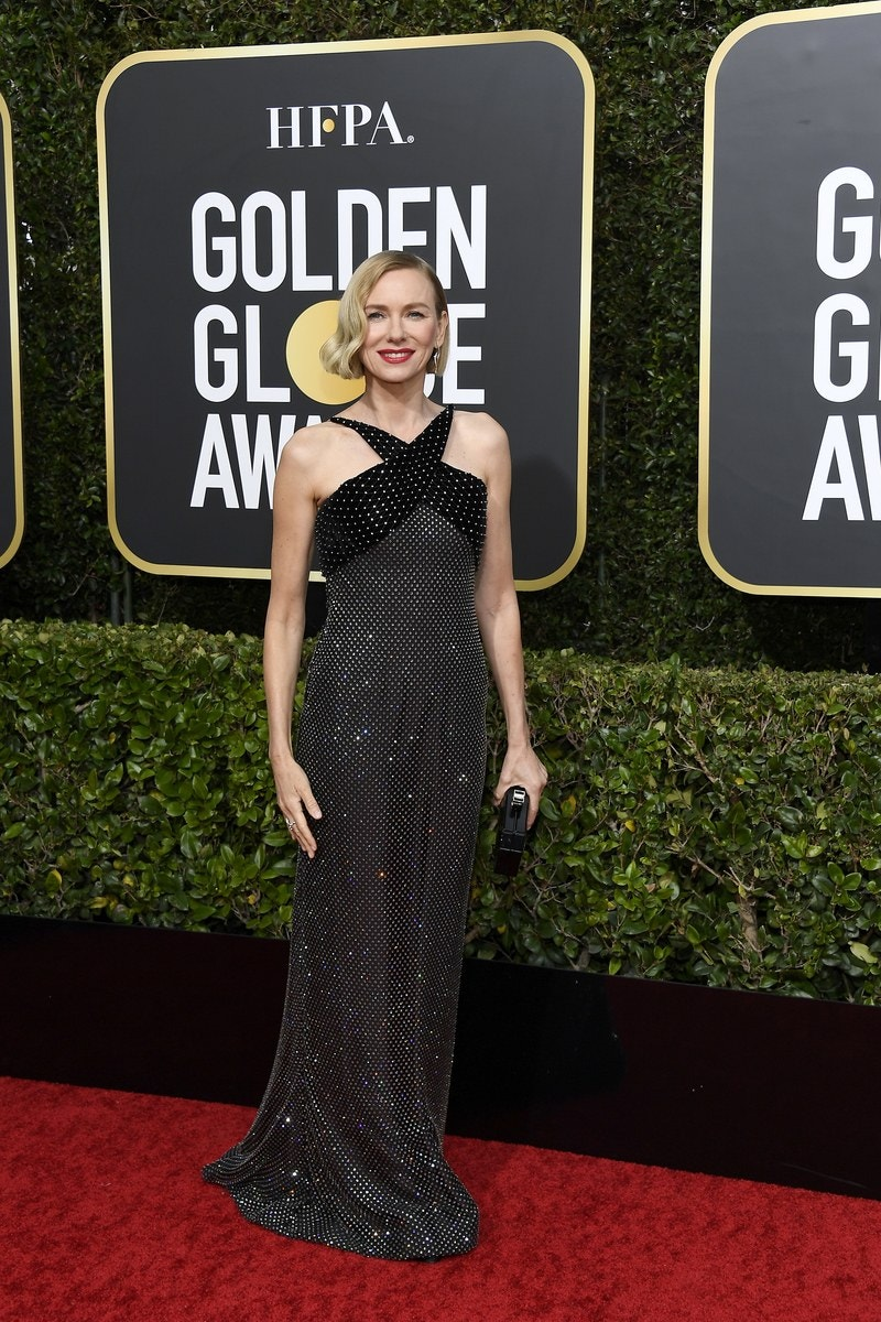 Naomi Watts wearing armani Fall 2019 Couture for the 77th Annual Golden Globe Awards
