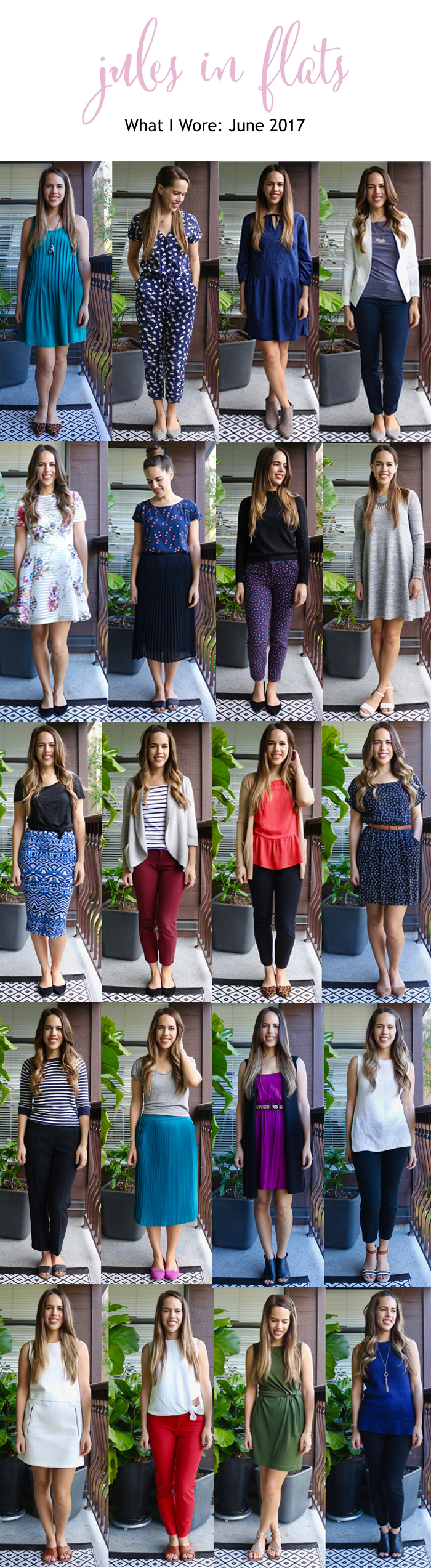 Jules in Flats - Monthly Outfit Roundup June 2017