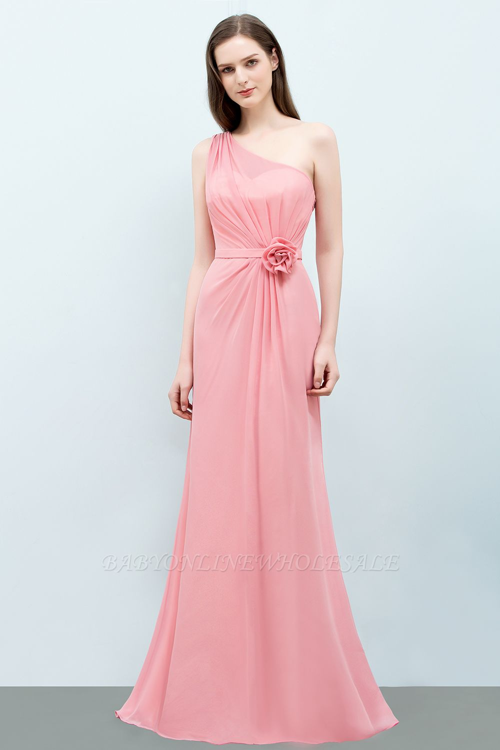 Cheap Long Pink Bridesmaid Dresses Under 50