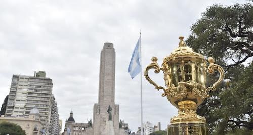 La copa Webb Ellis pasó por Rosario #WorldRugbyU20s