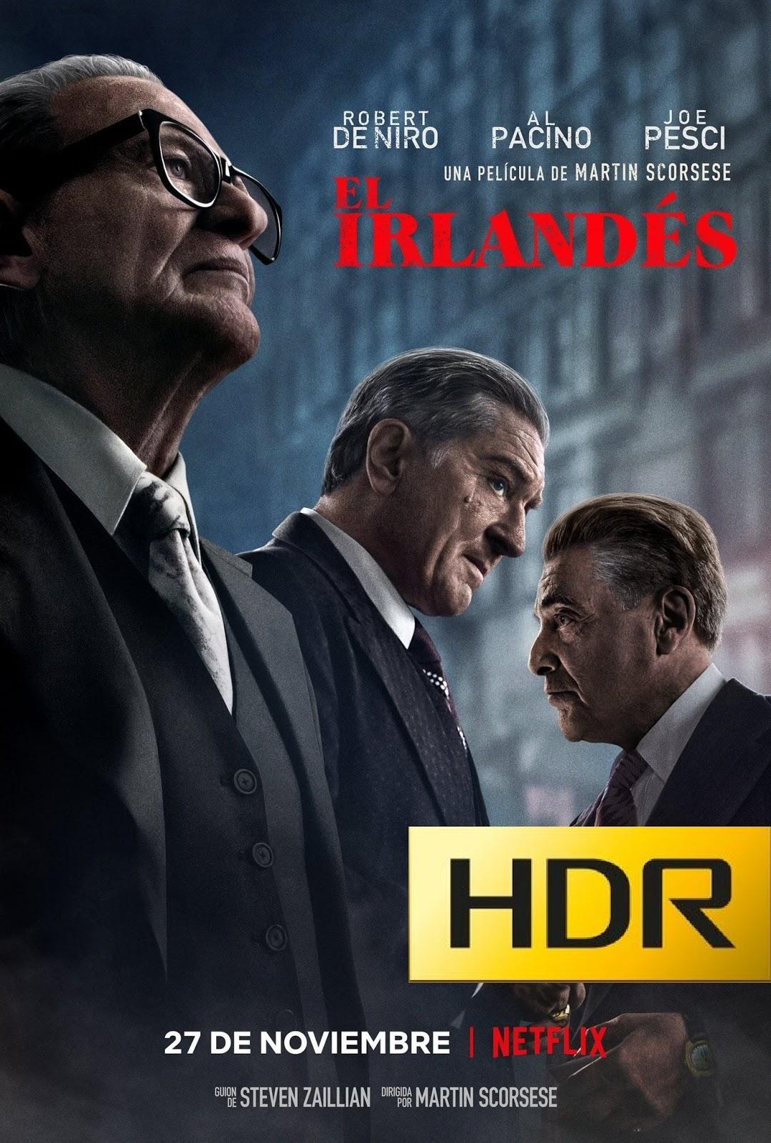El Irlandés (2019) NF WEB-DL 1080p HDR Latino