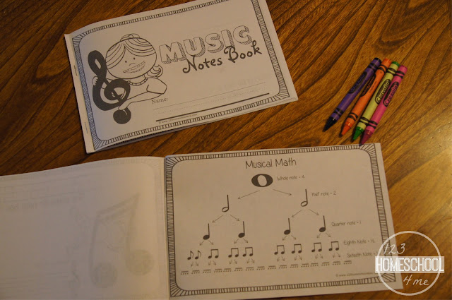 music theory - intorduction to music mini book for preschool, kindergarten, 1st grade, and 2nd grade kids