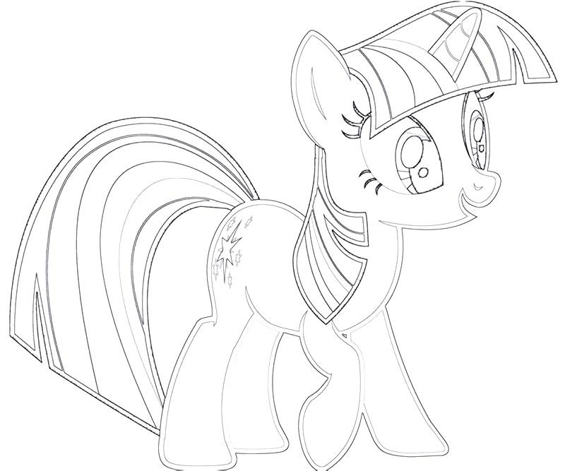 #8 Twilight Sparkle Coloring Page