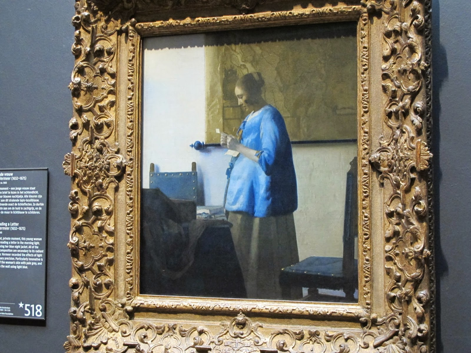 woman in blue reading a letter the and hound amsterdam june 8 at rijksmuseum 25664 | IMG 7228