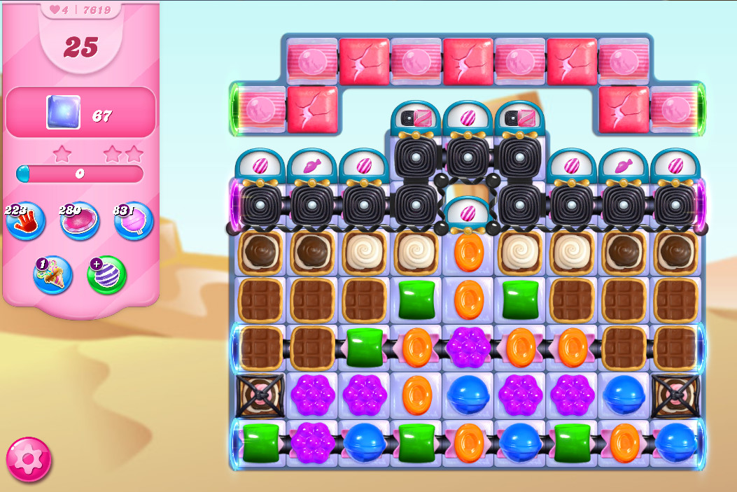 Candy Crush Saga level 7619