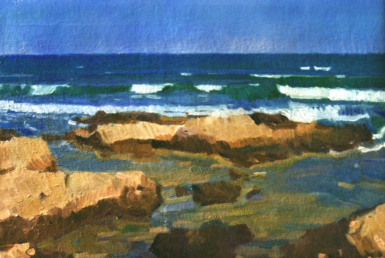 Paisajes marinos mar agitado - Pintor valenciano ...