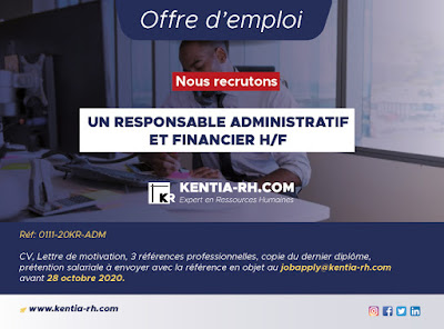 Responsable Administratif et Financier