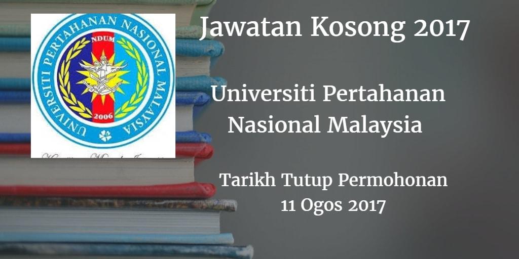 Jawatan Kosong UPNM 11 Ogos 2017
