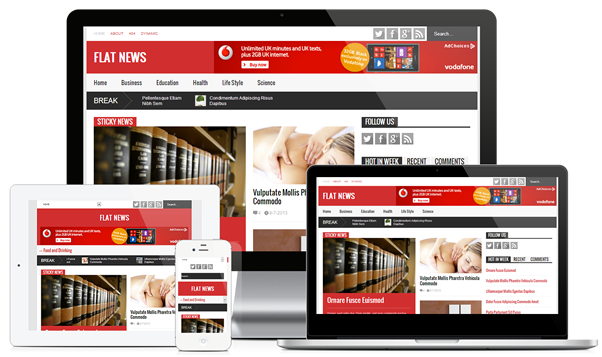 FlatNews Template Blogger Responsive Magazine