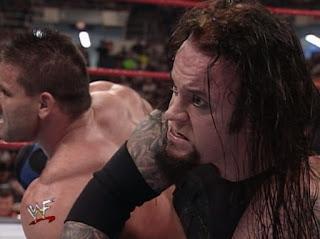 WWE / WWF - Backlash 1999 - The Undertaker faced Ken Shamock in a leg lock of doom challenge