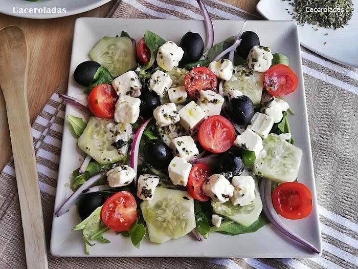 Como hacer ensalada Griega original
