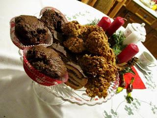 duplacsokis áfonyás muffin